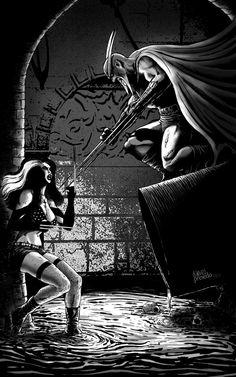Faust-vs-Calavera-inks by *dramenon