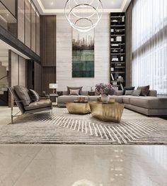 Modern Asian luxury interior design # futuristic design # house design # house interior design # in Futuristisches Design, Design Room, Sofa Design, Layout Design, Design Ideas, Lobby Design, Time Design, Design Concepts, Luxury Homes Interior