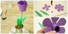 Хотите напомнить о весне? Сделайте яркие тюльпаны из плотной бумаги. Поделка…