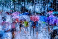 Another Rainy day by Petra Harald Neuner on Douglas Adams, Petra, Rain Photography, Singing In The Rain, Felt Art, Some Pictures, Rainy Days, Landscape Paintings, Landscapes