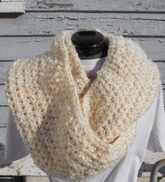 Crochet Infinity Scarf Crochet Loop Scarf Warm by GabbysQuilts