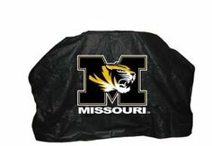 "NCAA Missouri Tigers 68-Inch Grill Cover by Seasonal Designs. $29.99. Draw string bottom for a secure fit.. Measures 68""W x 43""H x 23""D. Weather resistant- resists cracking even in cold weather.. Collegiate grill cover made of durable vinyl with flannel backing. Extends the life of the grill, protects from the elements.. Show your collegiate spirit with the collegiate heavy duty grill cover.  Measuring 68"" W it fits many gas grills.  A draw string bottom give it a se..."