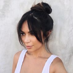 "10.3k Likes, 386 Comments - Marianna Hewitt (@marianna_hewitt) on Instagram: ""New bangs who dis??? Color & cut done by @tauni901 went darker for Fall (yeah fall? When did that…"""