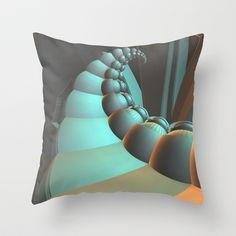 Spiral Throw Pillow by fracts - fractal art - $20.00
