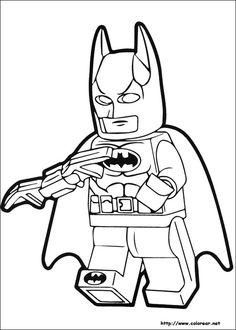 Batman Lego Coloring Pages