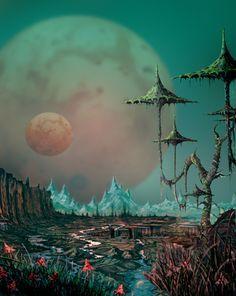 Image result for colin hay art Sci Fi Books, Sci Fi Fantasy, Fantasy Places, Space Fantasy, Printer, Science Fiction Art, Pulp Fiction, Alien Worlds, Arte Tribal