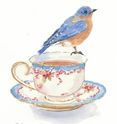 Original Bird Watercolour Painting  Bluebird by WaterInMyPaint,