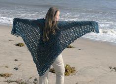 Ravelry: Easy Triangle Shawl #60301 pattern by Lion Brand Yarn