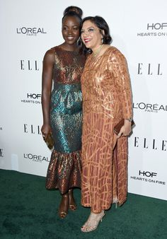 Lupita Nyong'o, left, and Mira Nair arrive at the 23rd annual ELLE Women in Hollywood Awards at the Four Season Hotel on Monday, Oct. 24, 2016, in Los Angele...