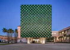 US firm Machado Silvetti has used jade-coloured terracotta tiles to sheath an extension to an Asian art centre on a museum campus in Florida