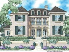 French Country Style 2 story 5 bedrooms(s) House Plan with 3578 total square feet and 3 Full Bathroom(s) from Dream Home Source House Plans