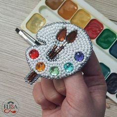 Bead Embroidery Jewelry, Fabric Jewelry, Beaded Embroidery, Hand Embroidery, Loom Beading, Beading Patterns, Embroidery Patterns, Seed Bead Jewelry, Beaded Jewelry