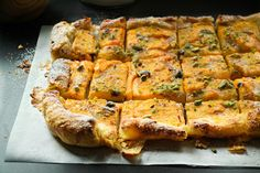 Τάρτα με Λωτό και Φυστίκι - Persimmon Tart Greek Recipes, Quiche, Sweets, Cooking, Breakfast, Desserts, Pies, Kitchen, Morning Coffee