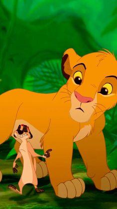 Simba and Timon Le Roi Lion 1, Simba Et Nala, Le Roi Lion Disney, Simba Lion, King Simba, Disney Lion King, The Lion King 1994, Lion King Fan Art, Disney Wallpaper