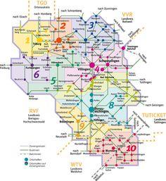 Verkehrsverbund Villingen-Schwenningen Tarifzonenplan