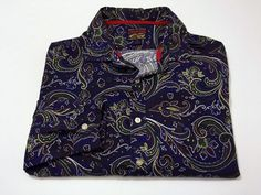 Cremieux 2XL XXL Paisley Button Up Shirt Long Sleeve Colorful Multi-Color #Cremieux #ButtonFront