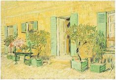 Vincent van Gogh Exterior of a Restaurant at Asnieres Painting  Oil on Canvas  Paris, France: Summer, 1887