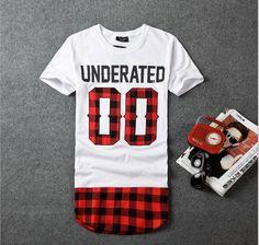 2016 UNDERATED Bandana Men's Extended Tee Shirts Men Skateboard Element t-shirt Hip Hop tshirt Streetwear Clothing