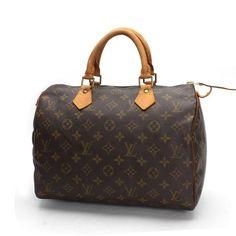 Louis Vuitton Speedy 30 Monogram Handle bags Brown Canvas M41526