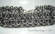 Stacked Ladder Byzantine Chainmaille by krystamariedesigns on Etsy, $55.00