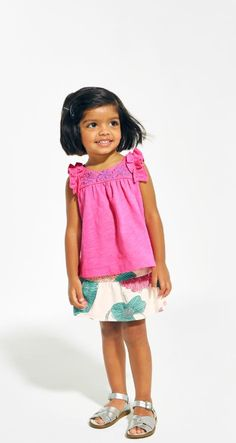 Shop baby girl outfits perfect for summer time play!