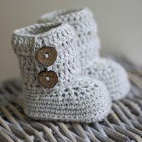 My Crochet Valley Booties - awwwww