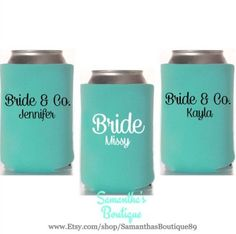 Custom Wedding Koozie - Bride & Co. With Names by SamanthasBoutique89 on Etsy