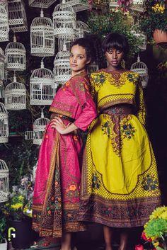 The Floral Ensemble ~African fashion, Ankara, kitenge, African women dresses, African prints, African men's fashion, Nigerian style, Ghanaian fashion ~DKK