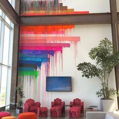 Girlsday idee van Techniek&ik: creatieve muurversiering in het nieuwe kantoor van Facebook.