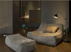 Verzelloni Zoe leather lounge chair