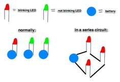 blinking lights in a series circuit