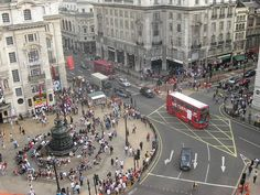 overhead view of Piccadilly Circus, London   photo by Matt from London, via flickr