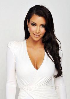 Kim Kardashian white dress.