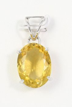 CHARMING! NATURAL FINE YELLOW CITRINE 925 STERLING SILVER NECKLACE PENDANT