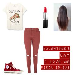 """Valentine's Day"" by mary-mara on Polyvore featuring Glamorous, Converse, MAC Cosmetics, women's clothing, women's fashion, women, female, woman, misses and juniors"