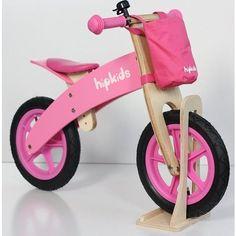 Pink Childrens Wooden Balance Bike