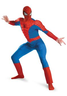 Spiderman Superhero Halloween costumes for men. Who wants to be a web slinging superhero for Halloween? Adult Spider-man costumes and accessories. Costumes Marvel, Superhero Halloween Costumes, Fancy Costumes, Super Hero Costumes, Superhero Party, Adult Costumes, Adult Halloween, Funny Halloween, Halloween Cosplay