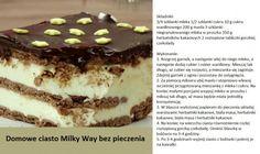 Domowe ciasto MILKY WAY bez pieczenia.