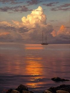 The ArtRussia Gallery presents Russian seascape paintings for sale. Buy online seascape painting by famous Russian painters. Sky Painting, Seascape Paintings, Oil Paintings, Cool Landscapes, Beautiful Landscapes, Landscape Art, Landscape Paintings, Landscape Designs, Landscape Architecture