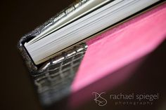 Photo shared by Rachael Spiegel Photography. Finao ONE flush mount album with Lusterin Hot suede and Shrike Skin spine and back.