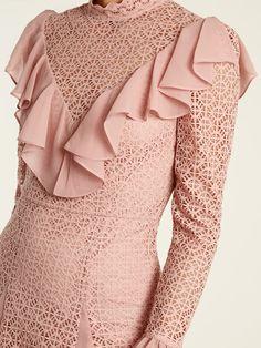 Prairie ruffled lace dress | Temperley London | MATCHESFASHION.COM