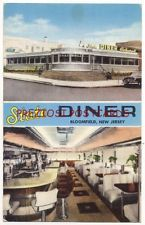 BLOOMFIELD NJ - STATE DINER - Exterior & Interior w/ JUKEBOX Early 1950's