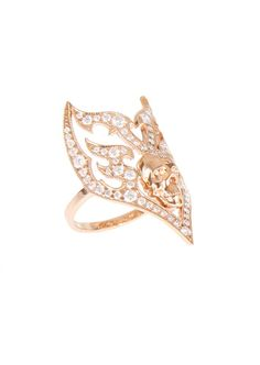 Stone Rings :: Stone Sympathy for the Devil pink gold and diamonds ring | Montaigne Market