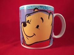 1997 Disney Winnie the Pooh Coffee Mug Tigger Piglet Eeyore Sakura NY Indonesia