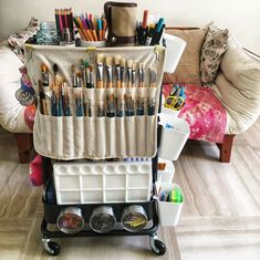 Craft Room Storage, Bedroom Storage Ideas For Clothes, Bedroom Storage For Small Rooms, Art Supplies Storage, Art Storage, Storage Hacks, Creative Storage, Organize Art Supplies, Art Studio Room