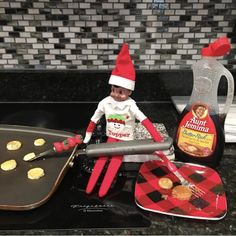 True story: This elf used to date Aunt Jemima before they changed the bottle. From nikjgrim.