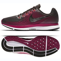 official photos 3e908 c2138 NIKE Womens Air Zoom Pegasus 34 Running Shoe (Gem) Shadow Brown Metallic  Pewter
