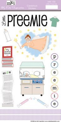 Little Preemie Cardstock Stickers $3.99  This site has everything the Preemie parent needs for scrapbooking.