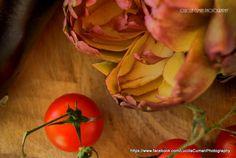 Fresh tomatoes,aubergines,artichokes..that's Puglia!  https://www.facebook.com/LucillaCumanPhotography