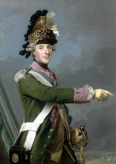 Swedish artist, worked in France, Alexander Roslin (1718-93) - portrait of Louis de France, Dauphin of France (1729–1765), in the uniform of Colonel General of the Dragoons, in front of the military camp at Compiègne Date 1765